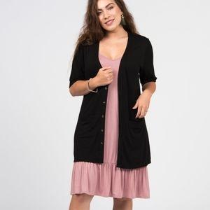 Black Cardigan Short Sleeve XS & XXL